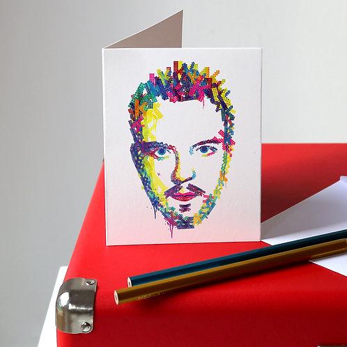 Brandon Flowers Greetings Card