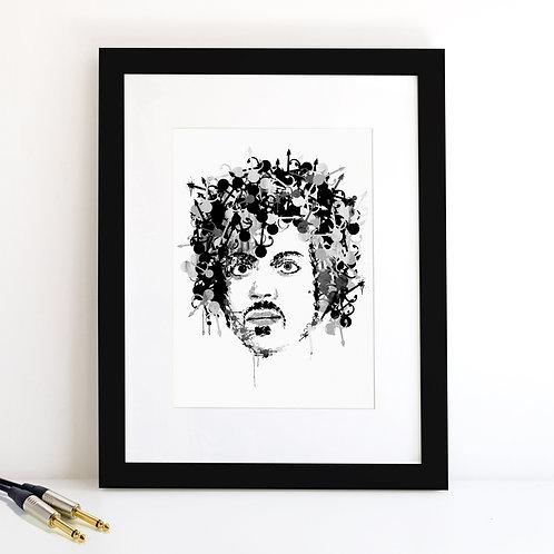 Prince monochrome Art Print