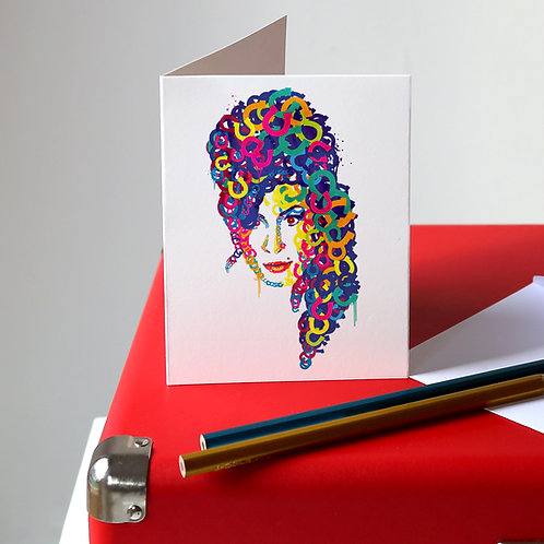 Amy Winehouse Greetings Card