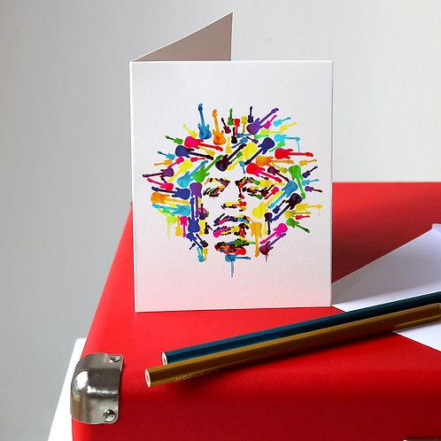 Jimi Hendrix Greetings Card