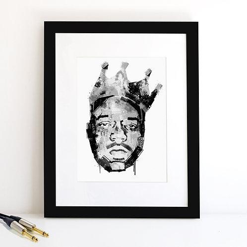 Notorious BIG monochrome Art Print