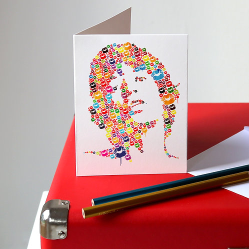 Mick Jagger Greetings Card