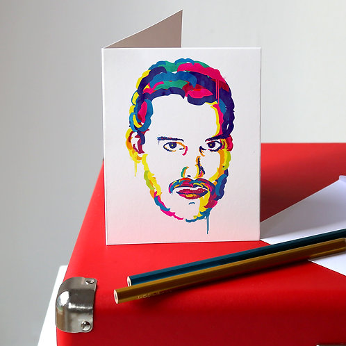 Freddie Mercury Greetings Card