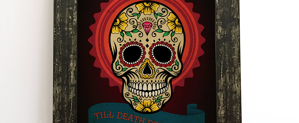Personalised Day of the Dead Wedding Print