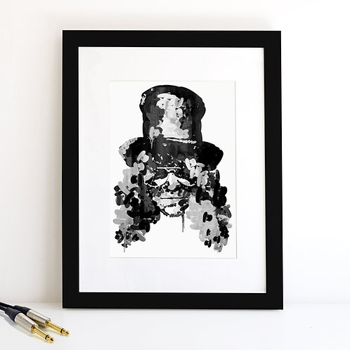 Slash monochrome Art Print