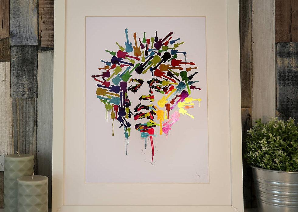 Limited Edition Jimi Hendrix Foil Print