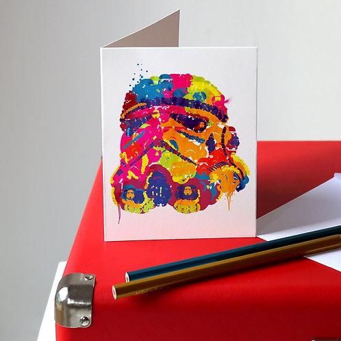 Storm Trooper Greetings Card
