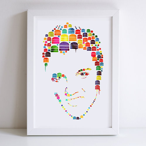 Elvis Illustrated Print