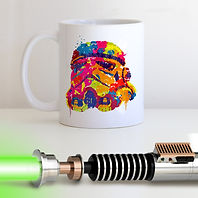 Personalised mug featuring an illustration of a Storm Trooper