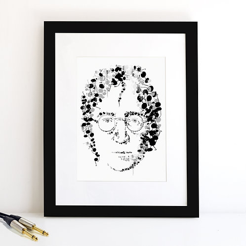 John Lennon monochrome Art Print