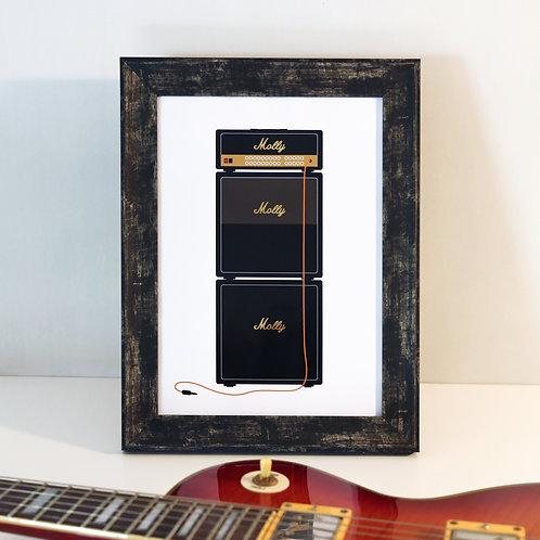 Personalised Name Guitar Amp Print