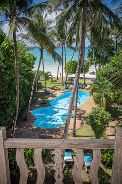 Monkey Beach House pool & sea view
