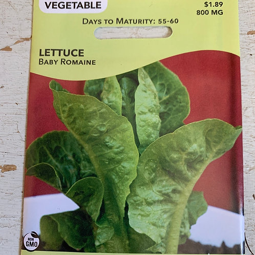 Seed - Lettuce Baby Romaine