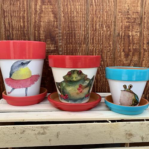 Garden Art - Whimsy Pots
