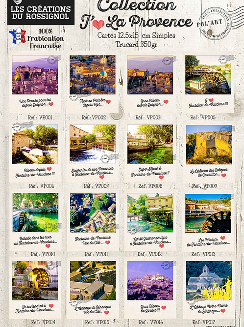 "Collection Polaroïd ""Villages de Provence"""
