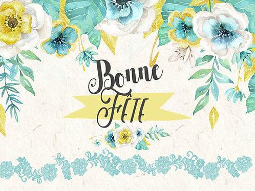 Carte message fleuriste x 25 -  Bonne Fête
