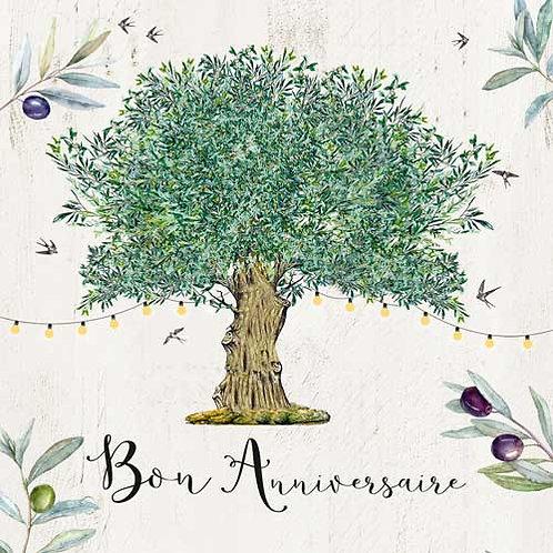 Carte de voeux  x 15  -Bon Anniversaire et Olivier- Réf DA016