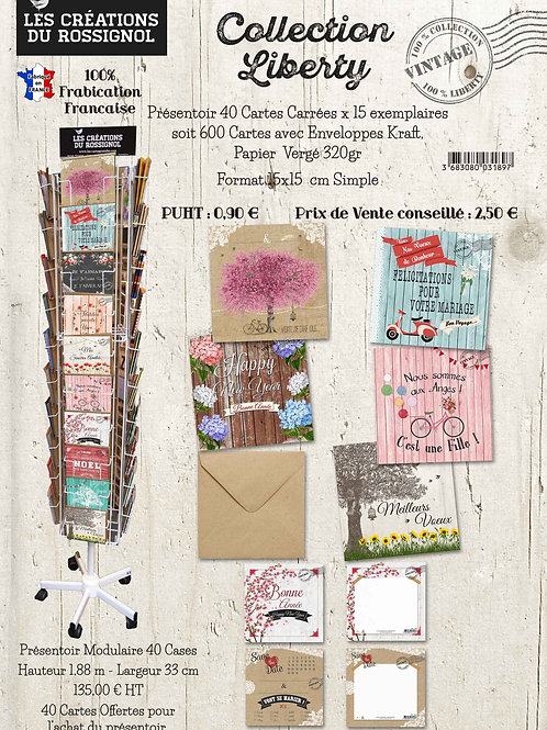 "Collection ""Liberty"" cartes toutes occasions"