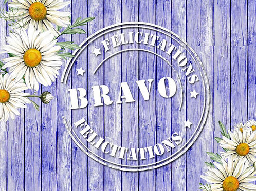 Carte fleuriste x 25  -Bravo- Réf FL041
