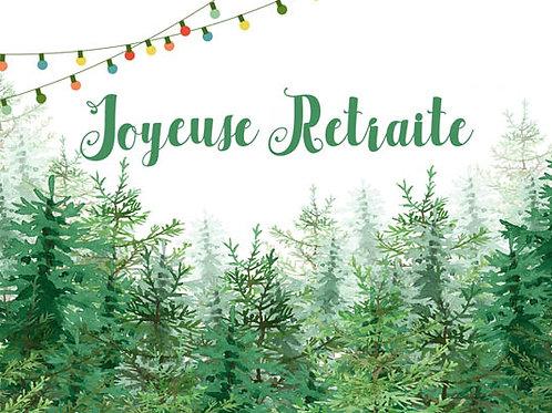 Carte message fleuriste x 25 - Retraite