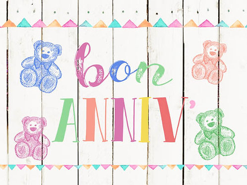 Carte message fleuriste x 25 - Bon Anniv'