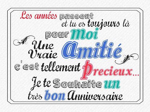 Carte message fleuriste x 25 - Anniversaire Message