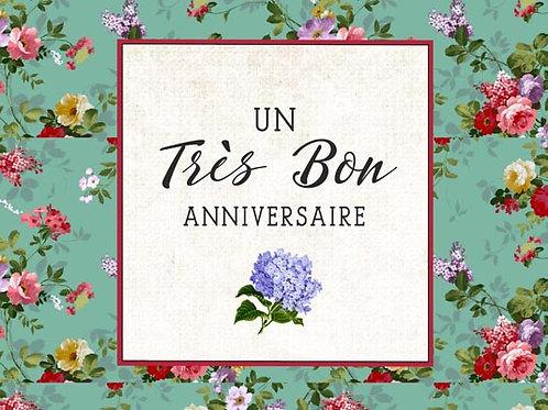 Carte fleuriste x 25 - Anniversaire Vintage