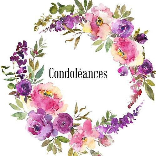 Carte de voeux  x 15  -Condoléances- Réf DA039