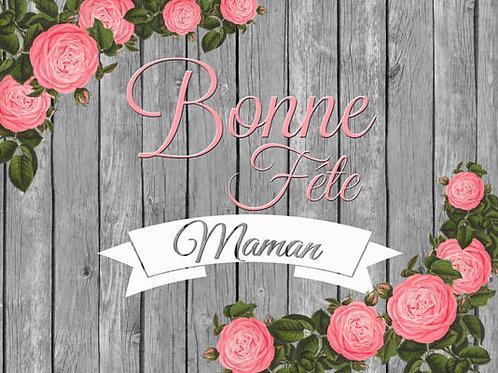 Carte fleuriste x 25  -Bonne fête Maman- Réf FL037