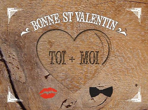 Carte fleuriste x 25  -Bonne St Valentin toi + Moi- Réf FL032