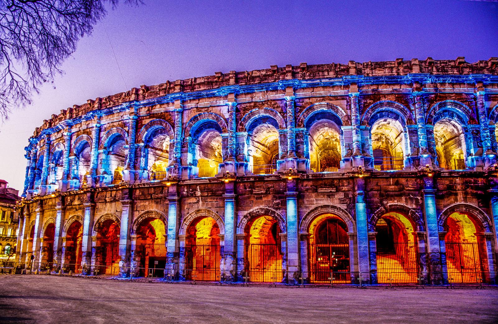Nîmes - Arênes - Eclairage de Noël (3)