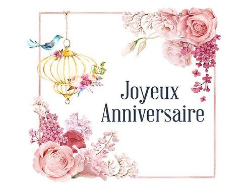 Carte fleuriste x 25 - Anniversaire Romantique