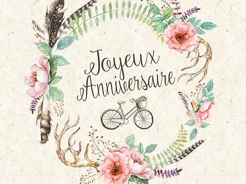 Carte message fleuriste x 25 - Couronne Bohème