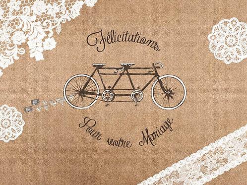 Carte fleuriste x 25 -Félicitation Mariage Scooter- Réf FL019