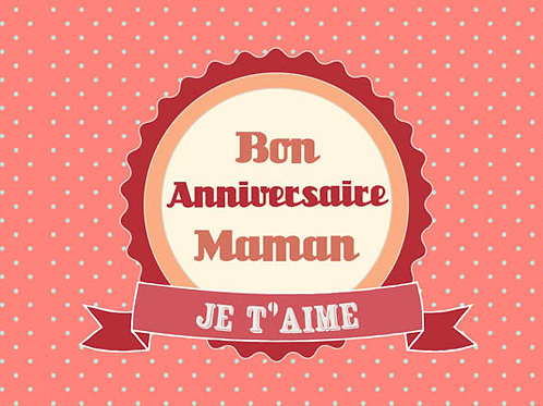 Carte fleuriste x 25  -Bon Anniversaire Maman- Réf FL045