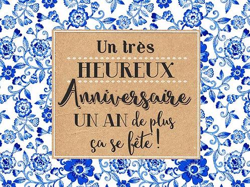 Carte fleuriste x 25 - Un an de Plus