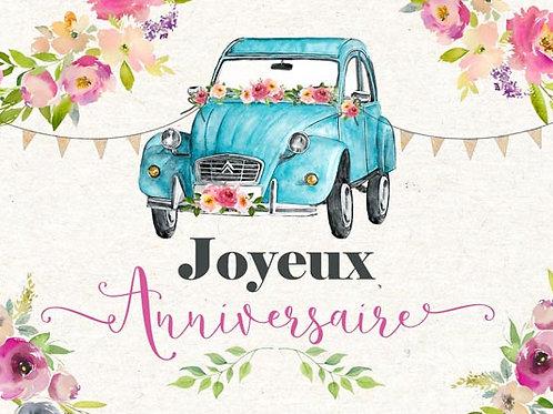 Carte fleuriste x 25 - 2cv Fleurs Pastel