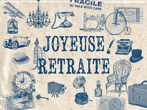 Carte fleuriste x 25 -Joyeuse Retraite- Réf FL012