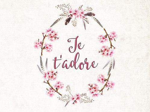 Carte fleuriste x 25 - Printemps Je t'adore
