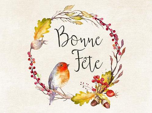 Carte fleuriste x 25 - Bonne Fête Automne