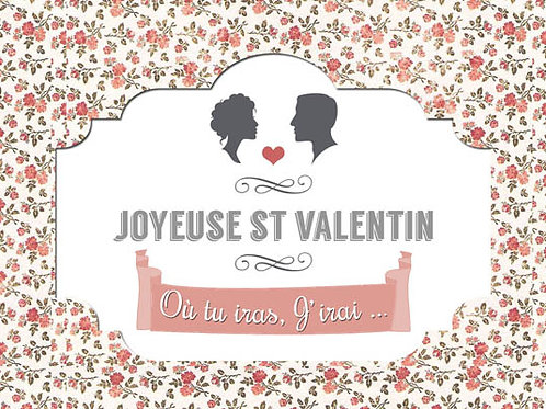 Carte fleuriste x 25  -Joyeuse St Valentin- Réf FL031