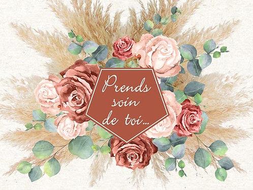 Carte fleuriste x 25 - Pampa & eucalyptus