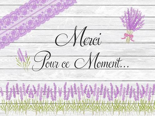 Carte fleuriste x 25 -Merci pour ce moment- Réf FL007