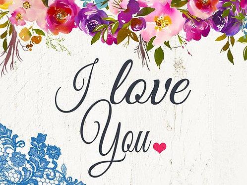 Copie de Carte fleuriste x 25 - I Love You