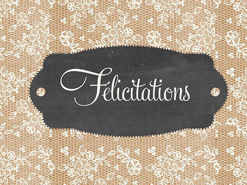 Carte fleuriste x 25  -Félicitations- Réf FL023