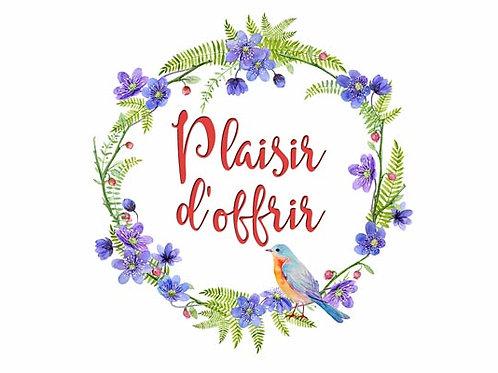 Carte fleuriste x 25 - Plaisir d'offrir