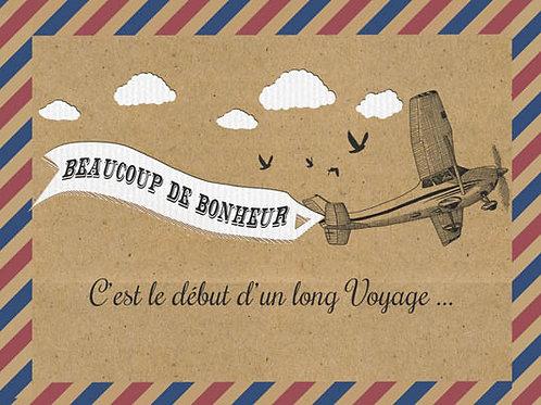 Carte fleuriste x 25  -Beaucoup de bonheur- Réf FL030