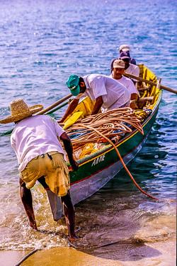 Martinique - Scène de Pêche à Anse Dufou