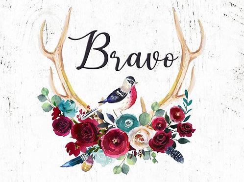 Carte fleuriste x 25 - Bravo Bohème