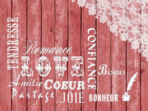 Carte fleuriste x 25 - Love- Réf FL005